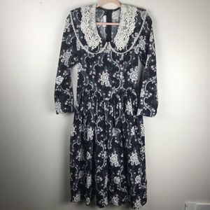 Jessica McClintock Gunne Sax Vintage Floral Dress